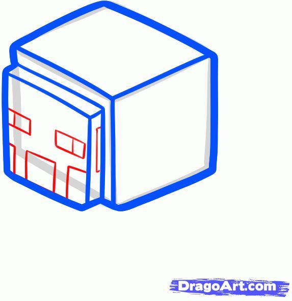 Рисуем овцу из игры майнкрафт