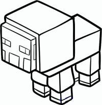 овцу из Майнкрафт карандашом