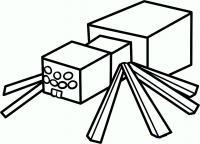 паука из майнкрафт карандашом
