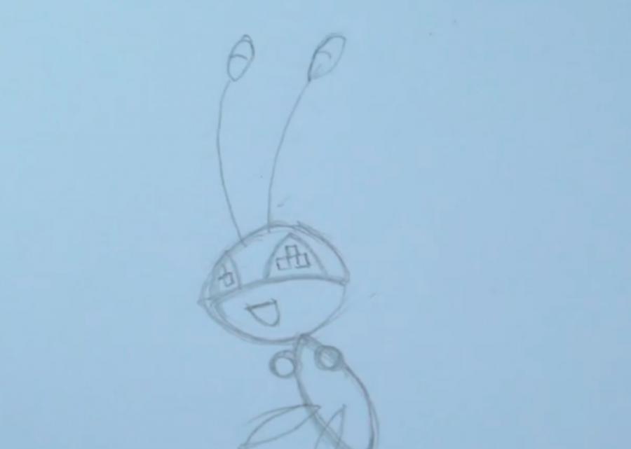Как нарисовать покемона Vivillon карандашом поэтапно