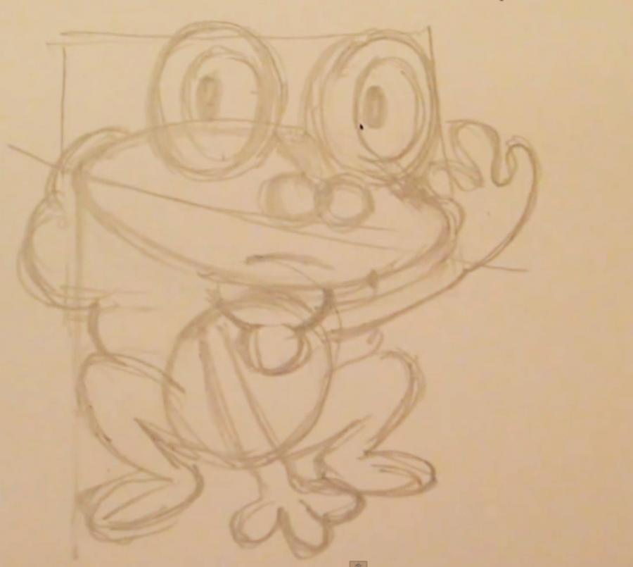 Как нарисовать покемона Фроаки из Покемон X и Y карандашом поэтапно