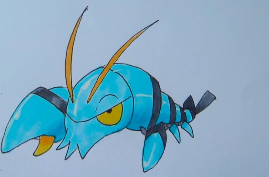 Как нарисовать покемона Клончера из Покемон X и Y карандашом