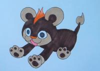 Как нарисовать покемона Литлео из Покемон X и Y карандашом поэтапно