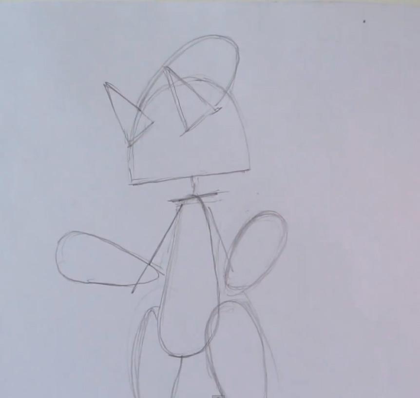 Как нарисовать покемона Мьюту из Покемон X и Y карандашом