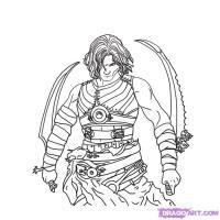 Как нарисовать принца Персии (Prince of Persia) на бумаге карандашом