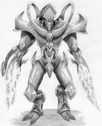 Как нарисовать Протосса  из Starcraft карандашом поэтапно