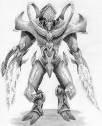 Протосса  из Starcraft карандашом