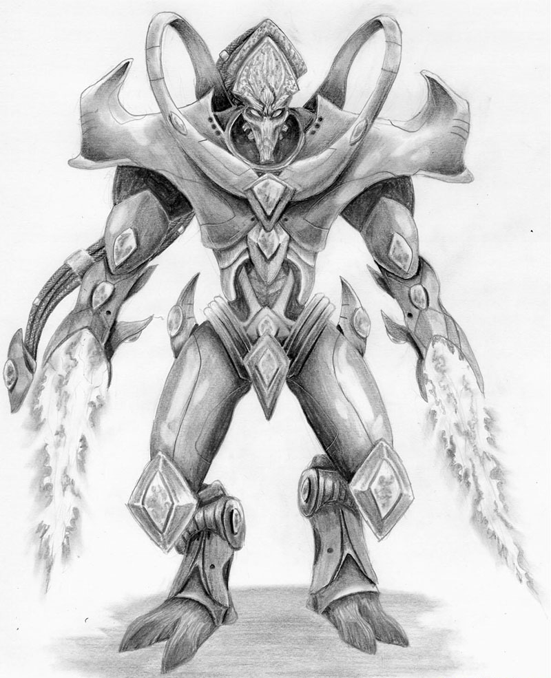 Рисуем Протосса  из Starcraft