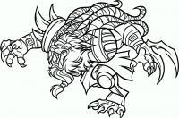 Как нарисовать Ренгара (Rengar) из Лиги Легенд карандашом поэтапно