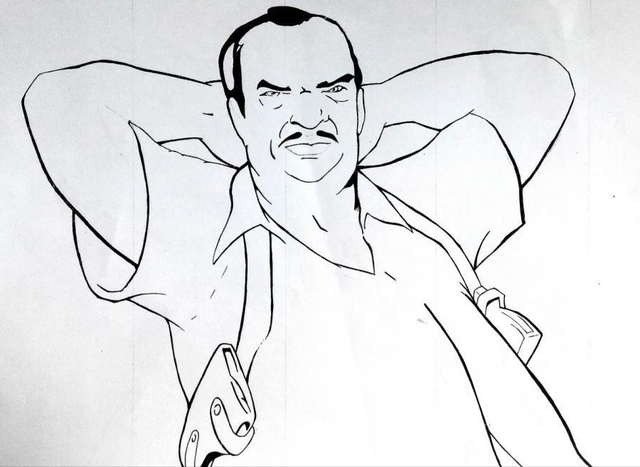 Рисуем Рикардо Диаза из игры GTA: Vice Sity