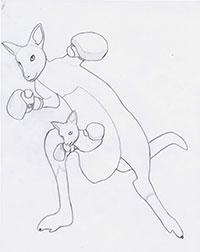 Как нарисовать Роджера из Теккен карандашом поэтапно