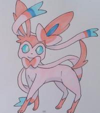 Как нарисовать Сильвеона из игры Pokemon X and Y поэтапно