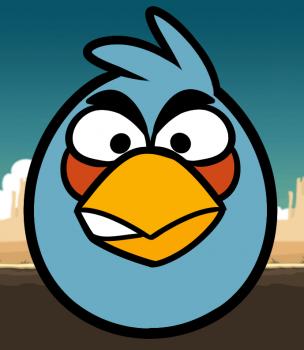 Рисуем Синюю птицу из Angry Birds