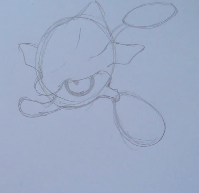 Как нарисовать Скрелпа из игры Покемон X и Y карандашом поэтапно