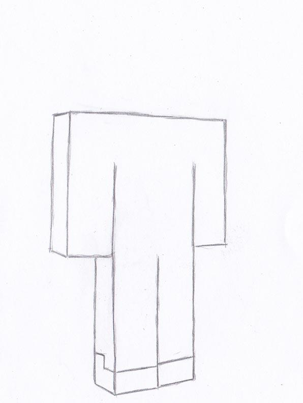 Рисуем Стива из Майнкрафта