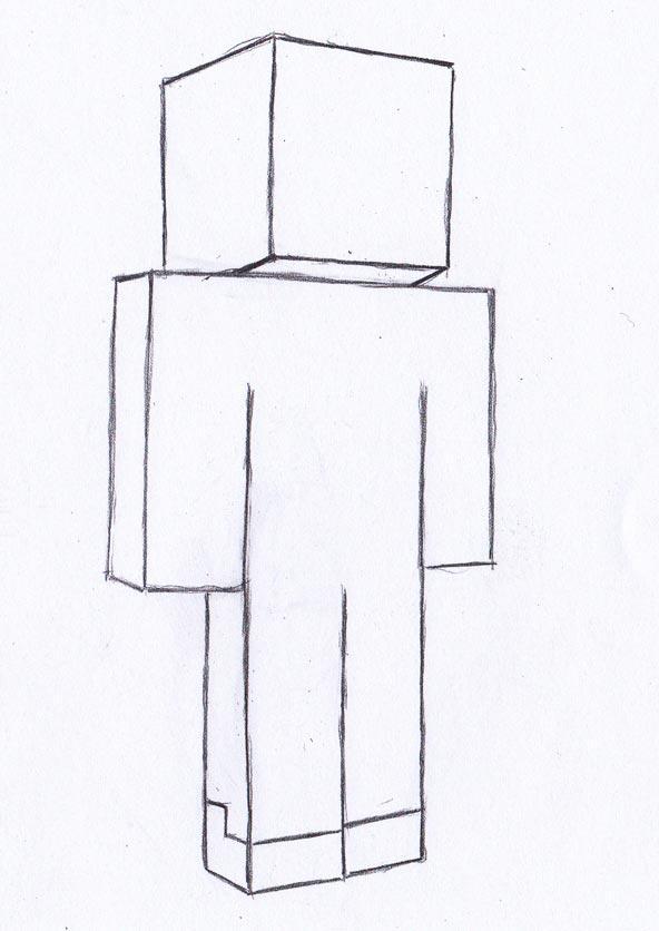 Рисуем Стива из Майнкрафта - фото 3