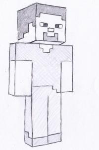 Стива из Майнкрафта карандашом
