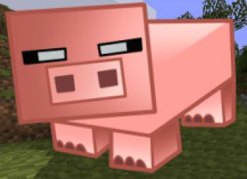 Рисуем свинью из игры майнкрафт