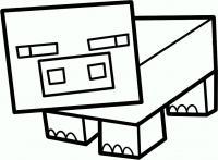 Фото свинью из игры майнкрафт карандашом