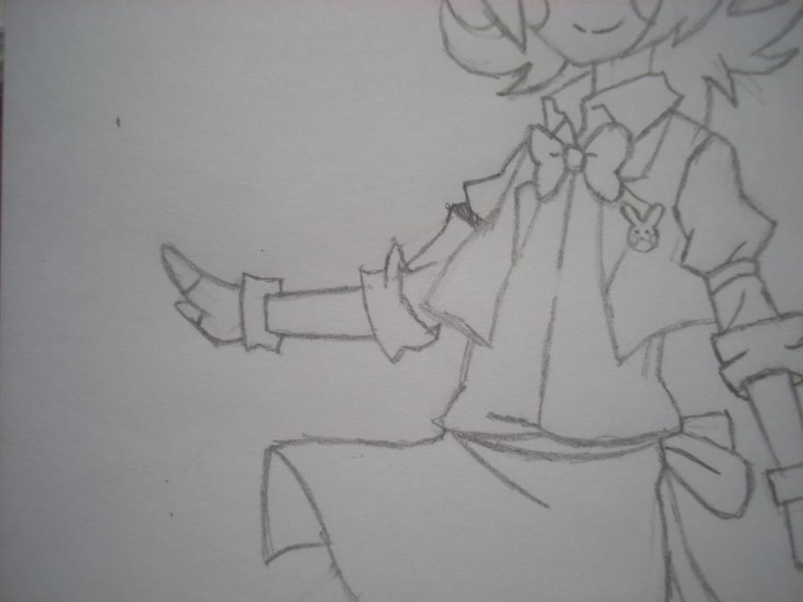 Рисуем Той Бонни в стиле человека карандашами - шаг 6