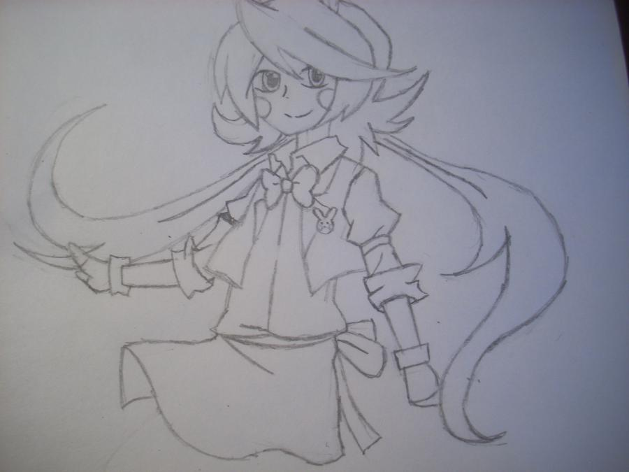 Рисуем Той Бонни в стиле человека карандашами - шаг 8