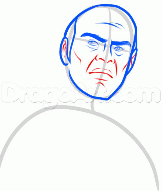 Рисуем Тревора Филипса  для начинающих - шаг 5