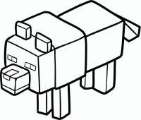 Волка из майнкрафт карандашом