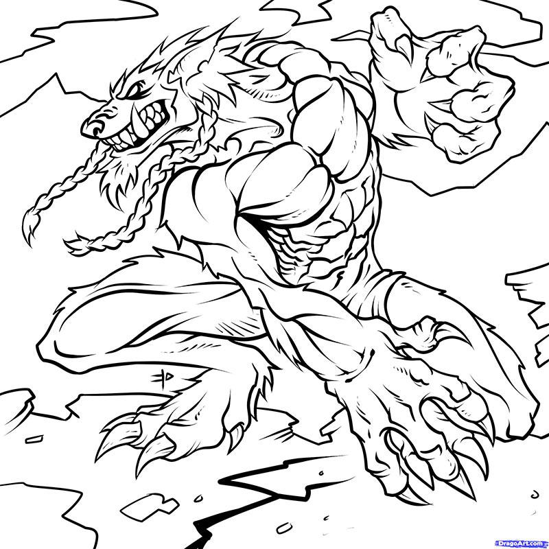 Как нарисовать Воргена из world of warcraft карандашом