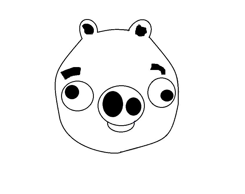 Рисуем зеленую свинью из Энгри Бердс - фото 6