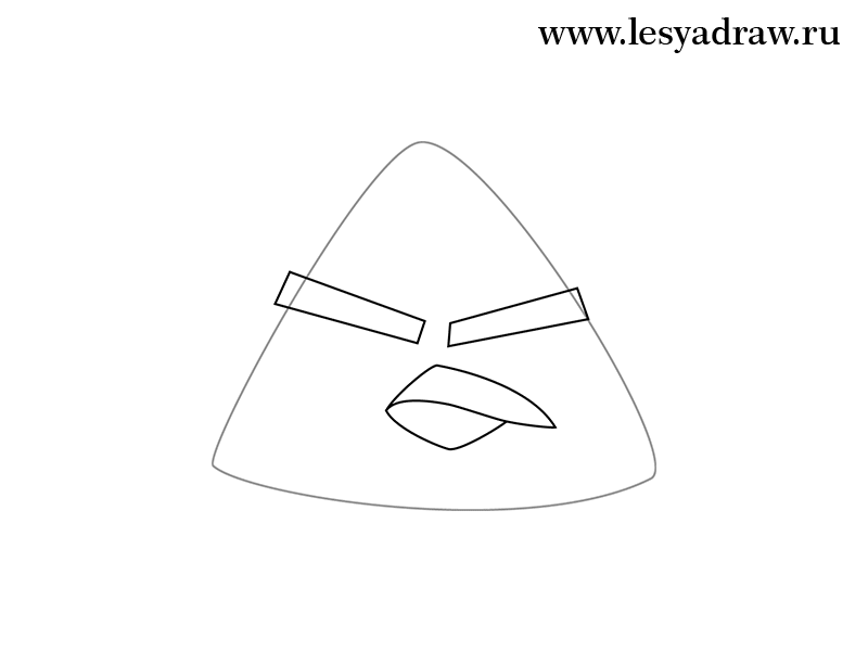 Рисуем желтую птицу из Angry Birds - шаг 2