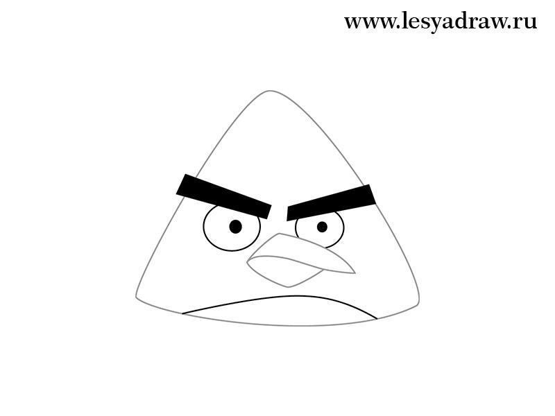 Рисуем желтую птицу из Angry Birds - шаг 3