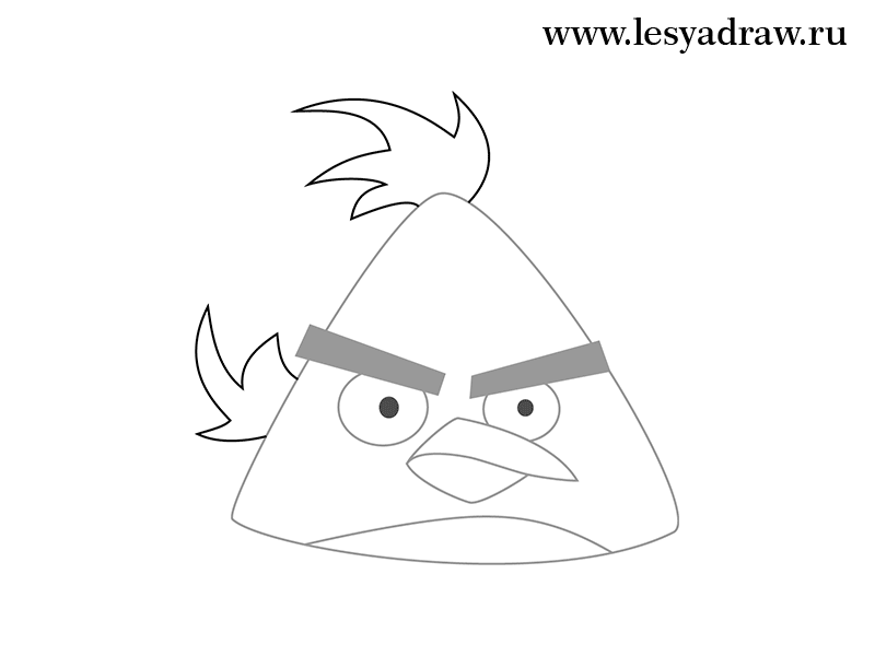 Yellow angry bird drawing