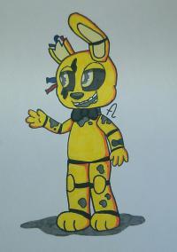 Фотография золотого Бонни из игры Пять Ночей с Фредди