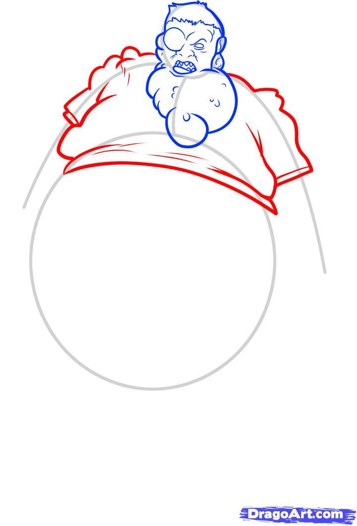 Рисуем зомби Boomer из Left 4 Dead