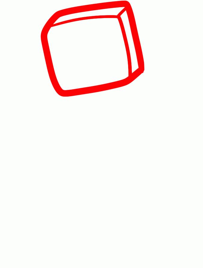 Рисуем зомби из Майнкрафта - шаг 1