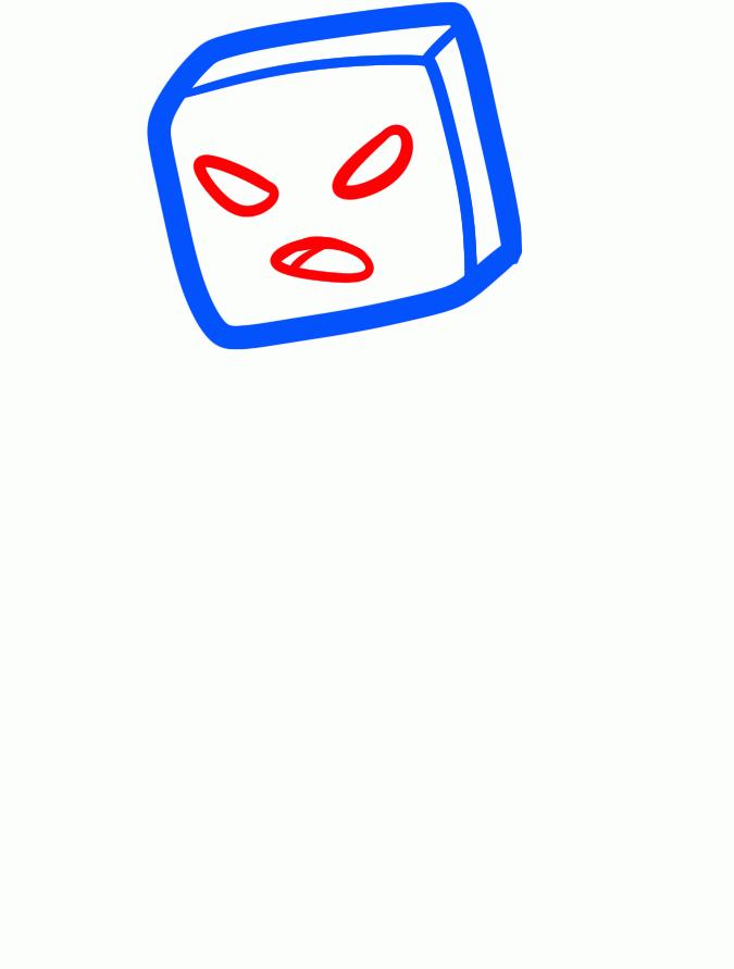 Рисуем зомби из Майнкрафта - шаг 2
