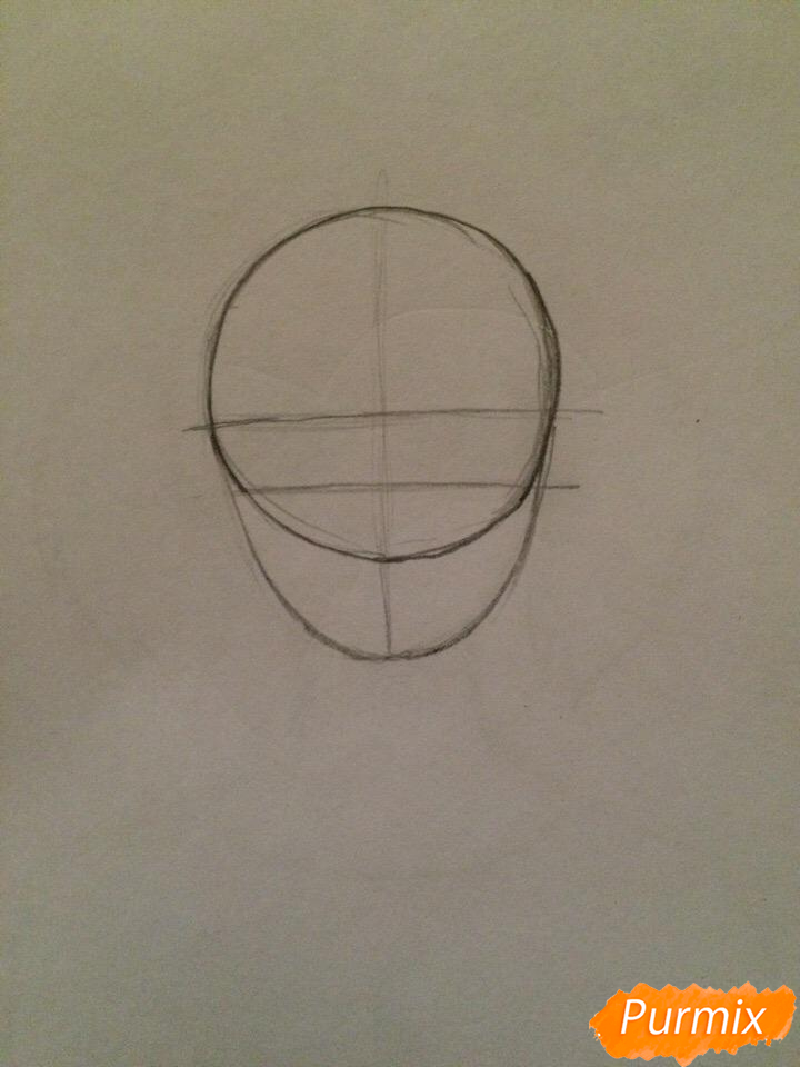Рисуем портрет Салли-кромсали - шаг 1