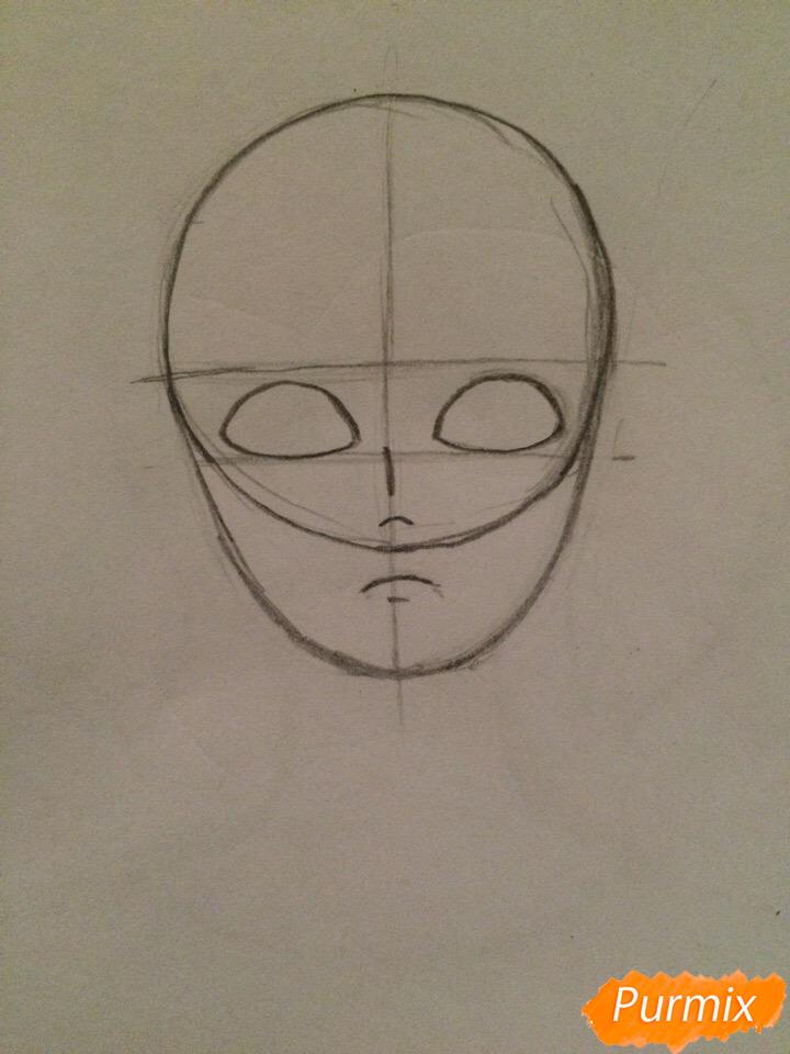 Рисуем портрет Салли-кромсали - шаг 2