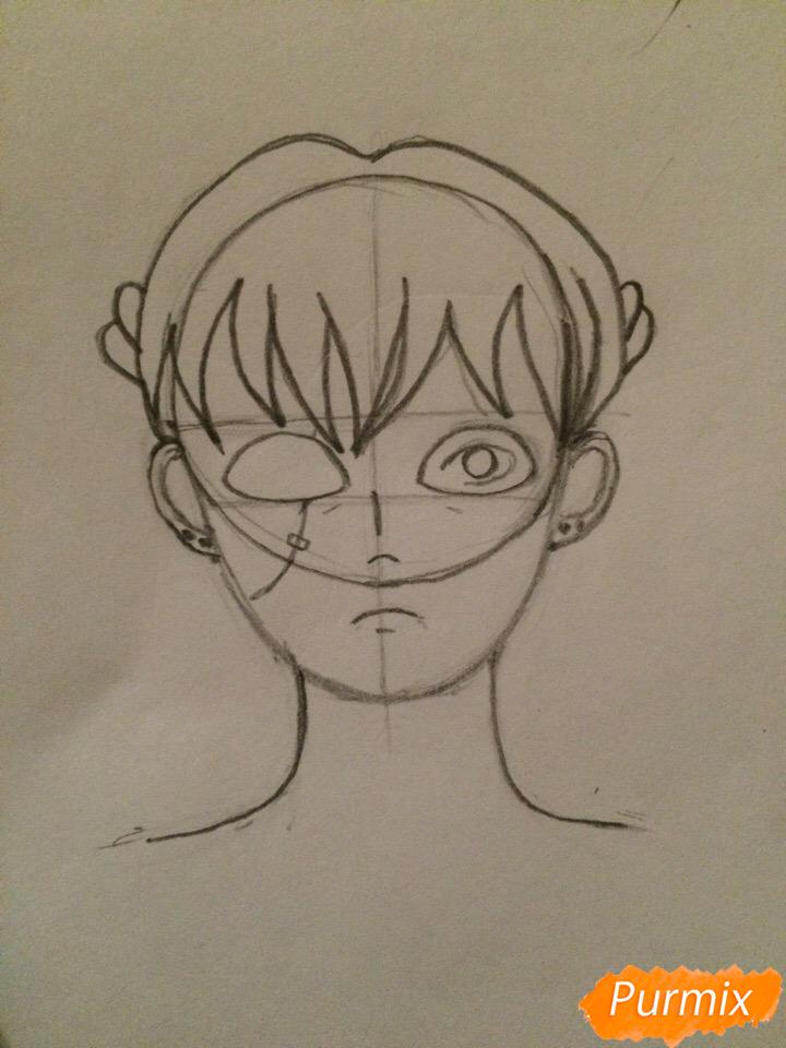 Рисуем портрет Салли-кромсали - шаг 3