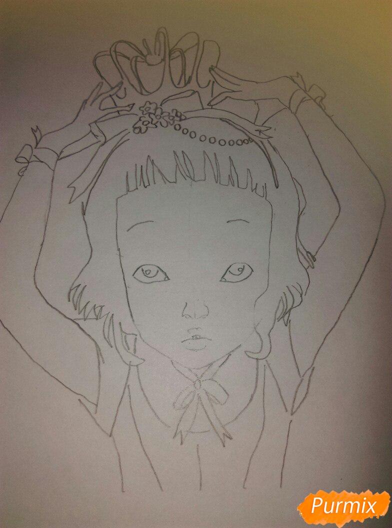 Lostfish иллюстрация из книги Алиса в стране чудес - шаг 8