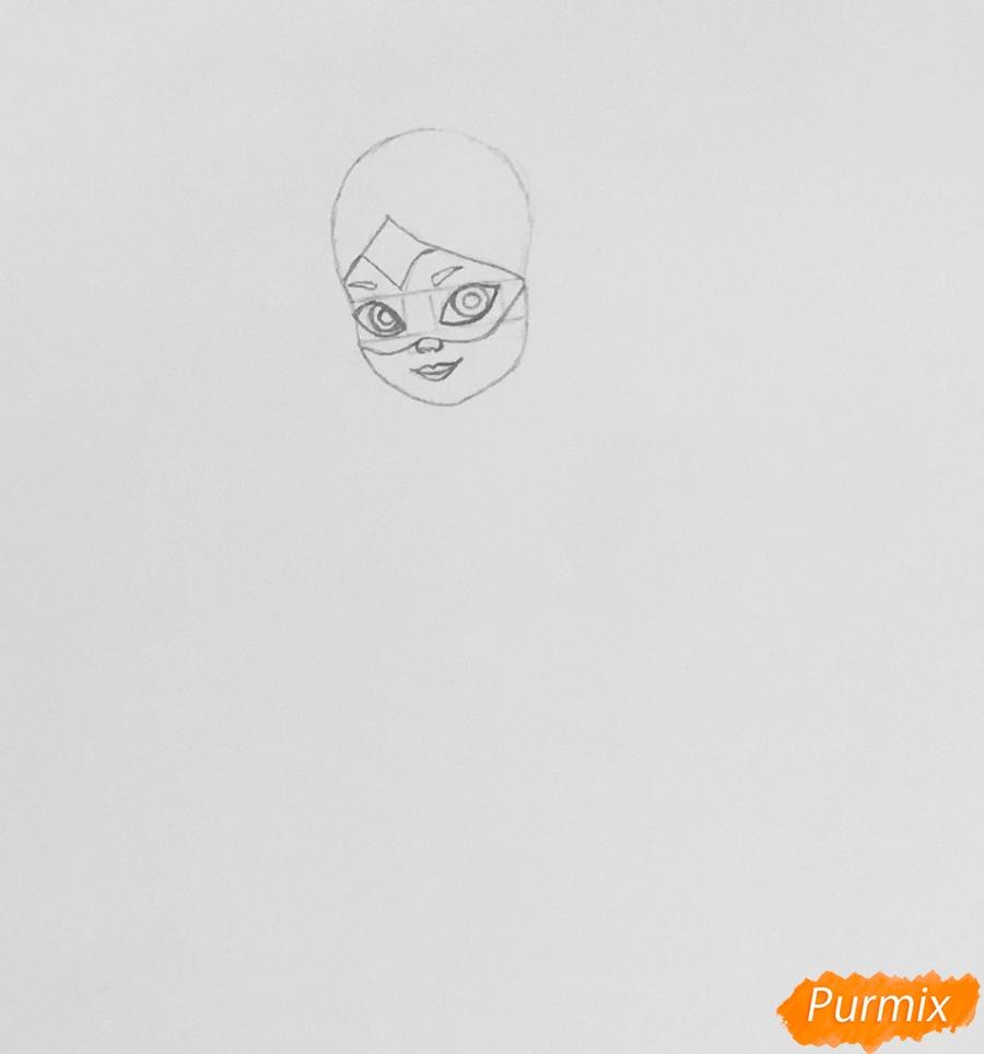 Рисуем Алью вольпину из мультфильма Леди Баг и Супер Кот - шаг 2
