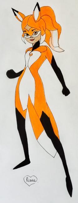 Алью из Леди Баг и Супер-Кот карандашом