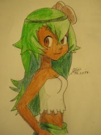 Рисунок Амалию из мультфильма Вакфу