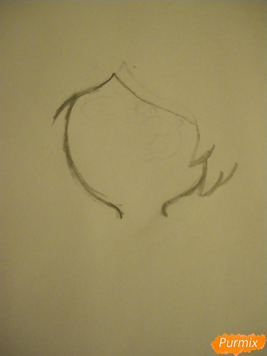 Рисуем Аметист из Вселенная Стивена карандашами - шаг 1