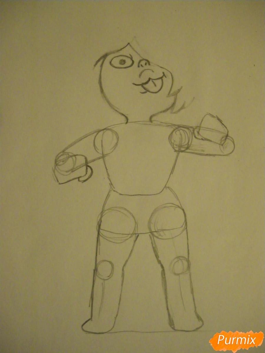 Рисуем Аметист из Вселенная Стивена карандашами - шаг 3