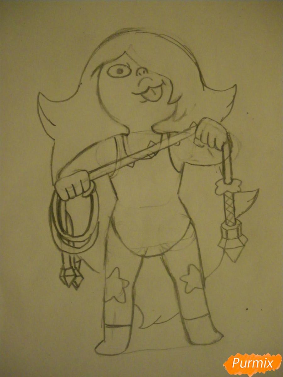 Рисуем Аметист из Вселенная Стивена карандашами - фото 5