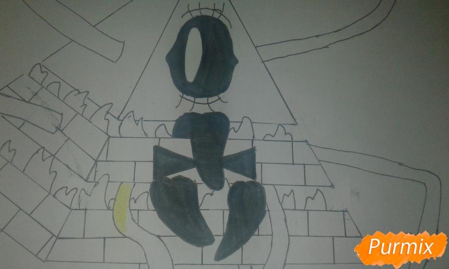 Рисуем Билла Шифра во время Странногеддона из Гравити Фолз - шаг 11