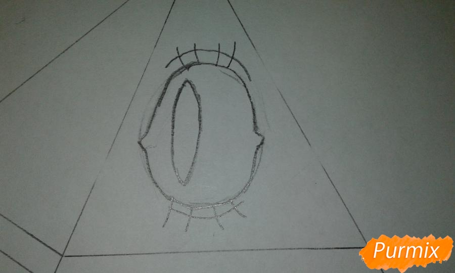 Рисуем Билла Шифра во время Странногеддона из Гравити Фолз - шаг 2