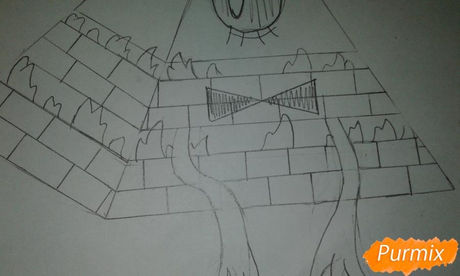 Рисуем Билла Шифра во время Странногеддона из Гравити Фолз - шаг 4