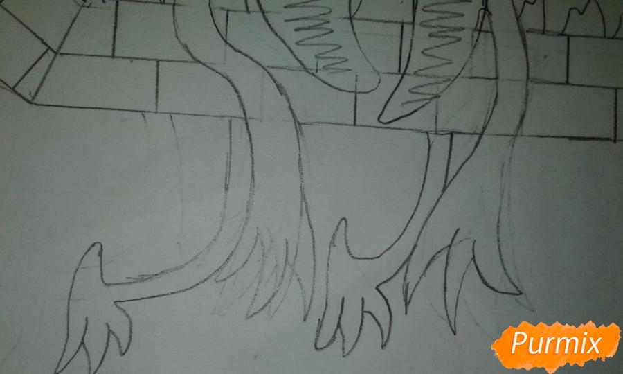 Рисуем Билла Шифра во время Странногеддона из Гравити Фолз - шаг 6